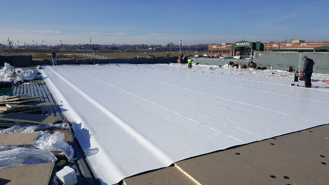 Commercial roof project
