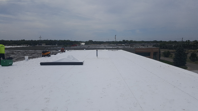 Finished roofing project