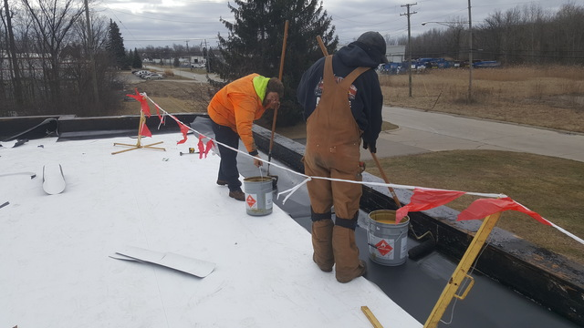 commercial roofing work