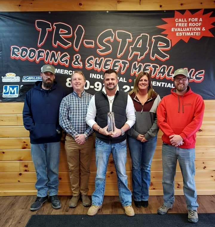 Tri-Star Roofing team